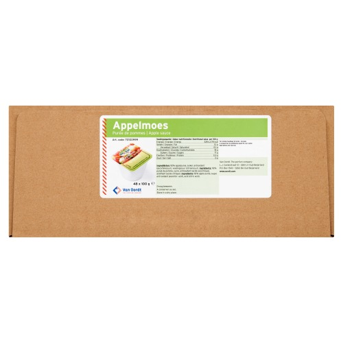 One2fruit Appelmoes cup Appelmoes cup 48 x 100g (100g)