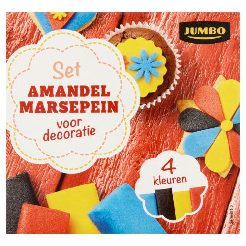 Jumbo Set Amandelmarsepein voor Decoratie 4 x 75 g (4 × 75g)