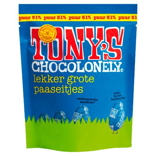 Tony's Chocolonely Eitjes zakje puur (180g)