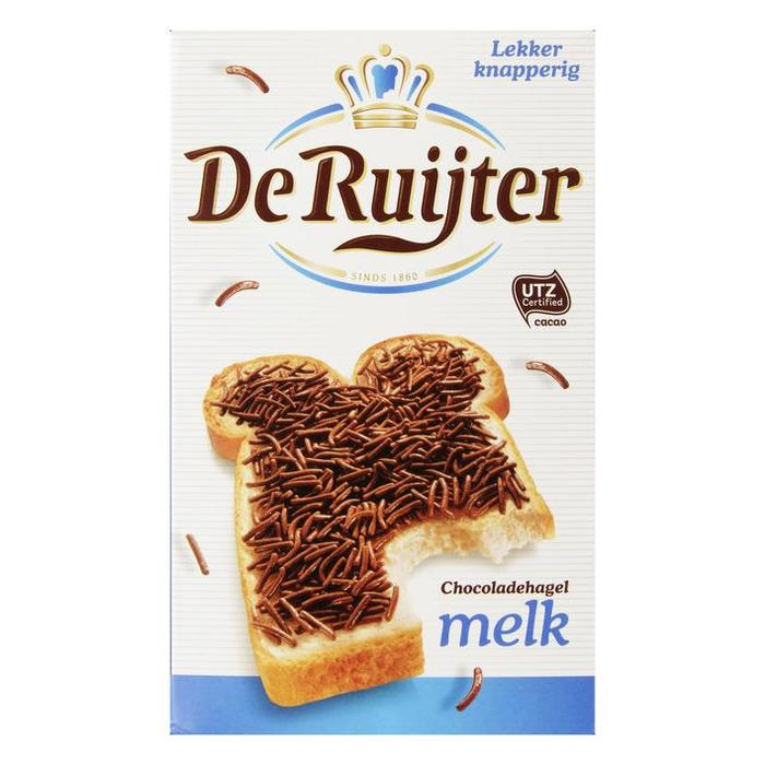 De Ruijter Chocolade hagel melk (400g)