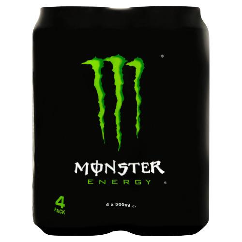 Monster Energy 4 x 500ml (4 × 0.5L)