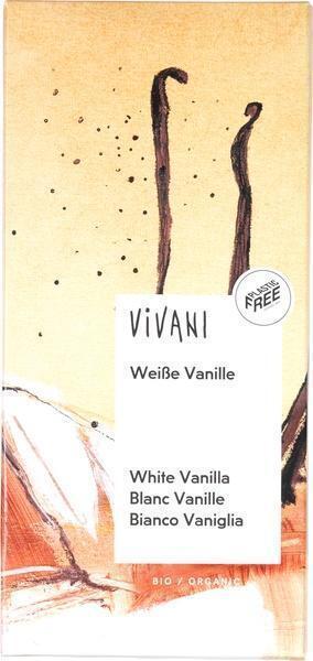 Chocoladetablet wit vanille (80g)