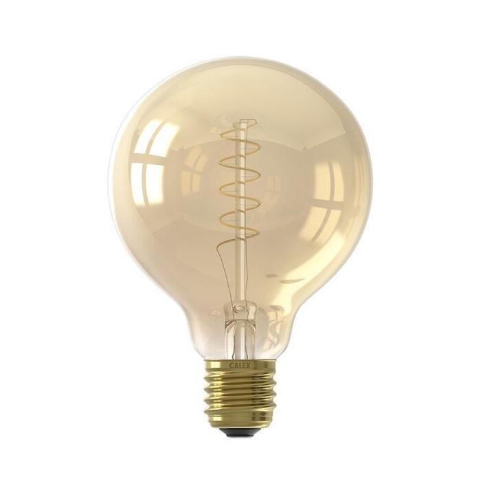 Calex Led volglas filament G95 goud