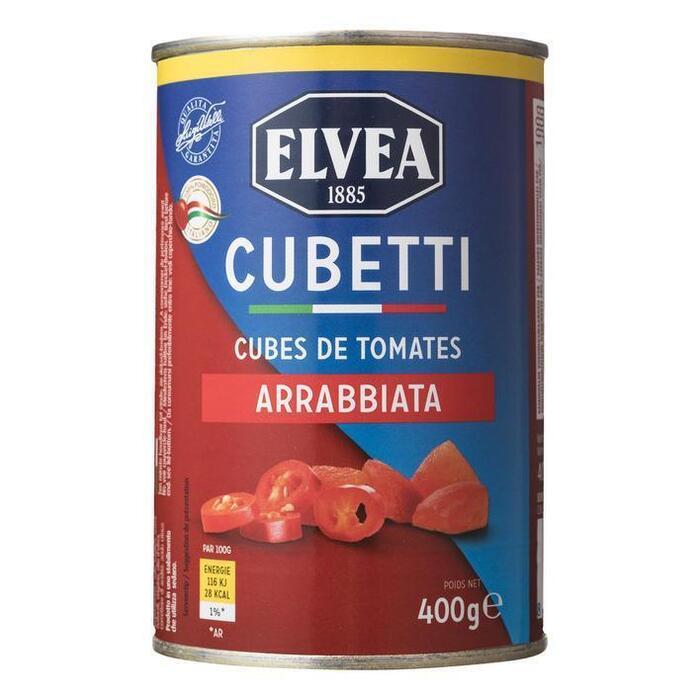 Tomatenblokjes (blik, 400g)