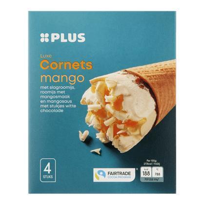 Luxe cornets mango Fairtrade