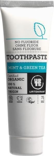 Groene thee mint tandpasta (z. fluoride) (75ml)