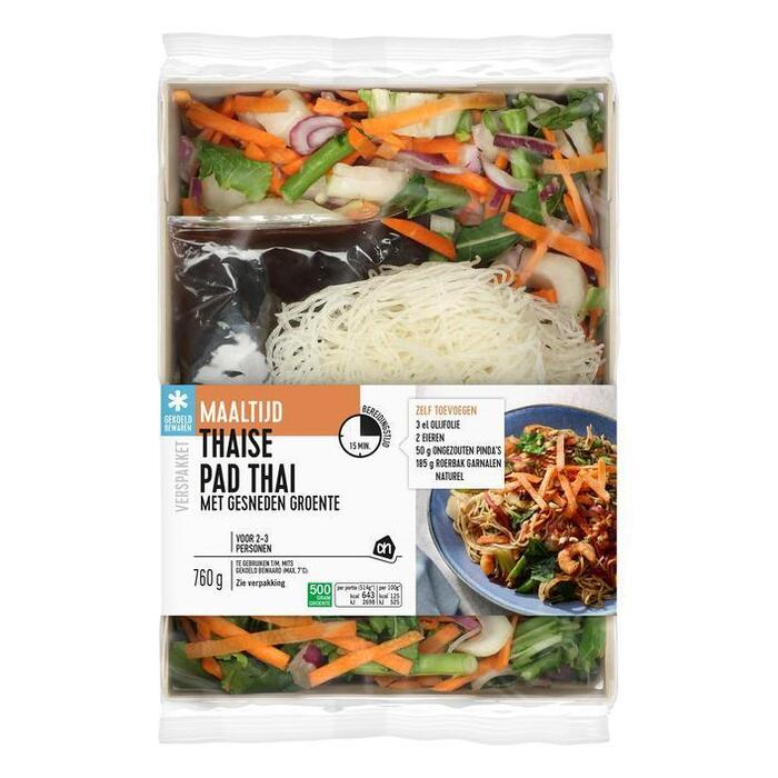 AH Gesneden verspakket Thaise pad thai (760g)