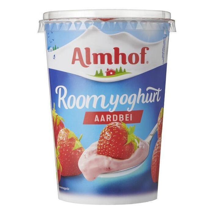 Roomyoghurt aardbei (Stuk, 500g)