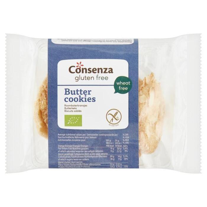 Consenza Pure & Free Glutenvrije Roomboter Amandelkoekjes 100 g (100g)