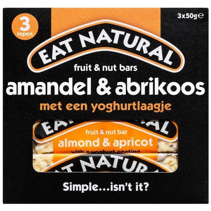 Eat Natural, Amandel & Abrikoos (Stuk, 3 × 50g)