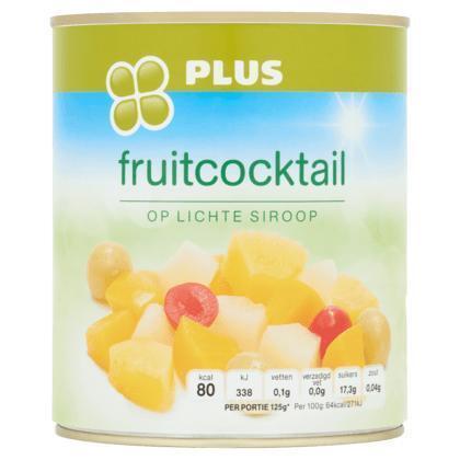 Fruitcocktail op licht siroop (blik, 820g)