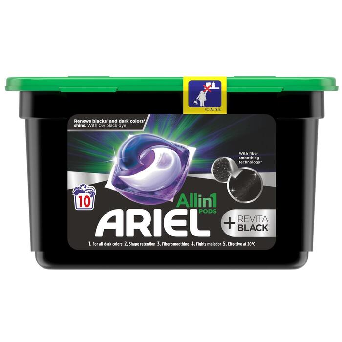 Ariel All-in-1 Pods Wasmiddelcapsules +Revitablack, 10 Wasbeurten