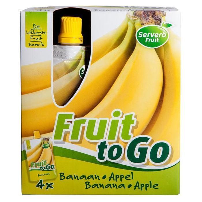 Fruit To Go Banaan Appel (4 × 400g)