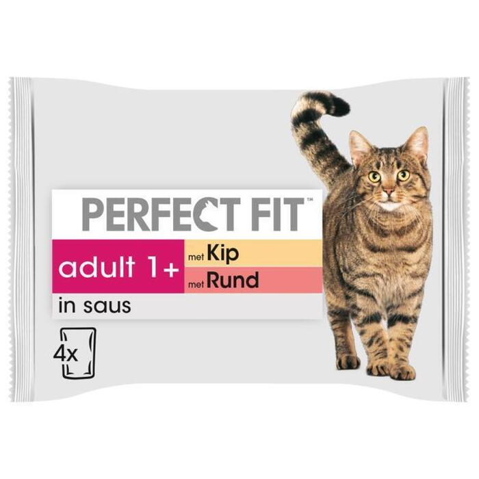 Perfect fit Pouch adult kip-rund (4 × 340g)