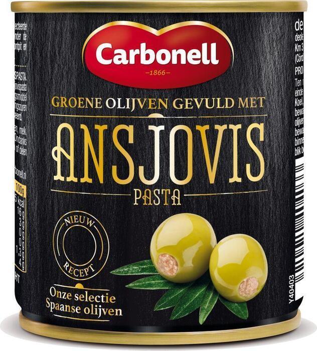 Olijven gevuld met Ansjovis (blik, 212ml)