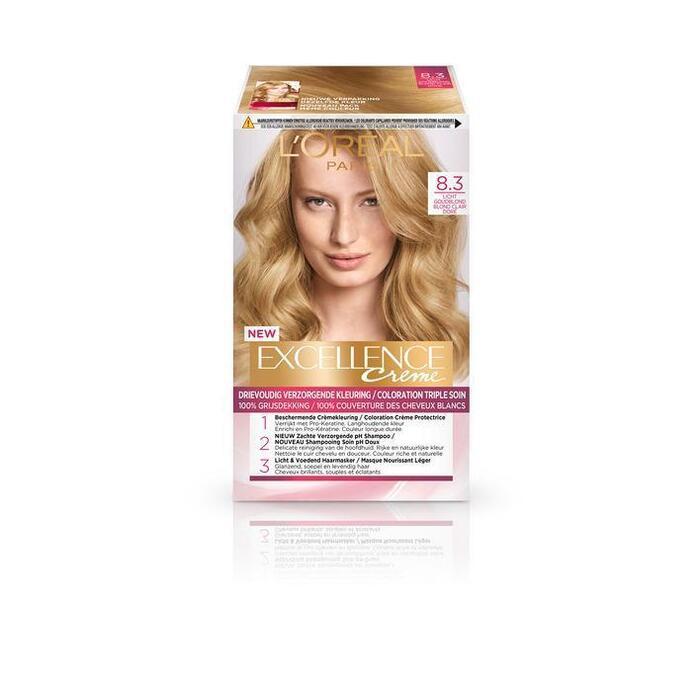 L'Oréal Excellence crème 8.3 licht goudblond (176ml)