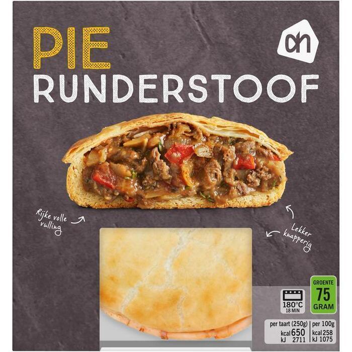 AH Pie runderstoof ui (250g)