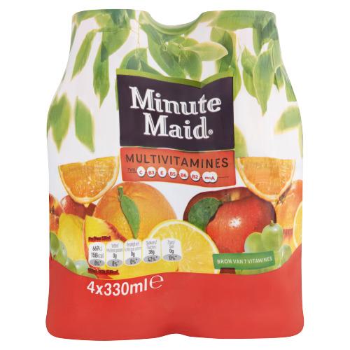 Minute Maid Multivitamines PET 0.33L 1x4 (4 × 33cl)