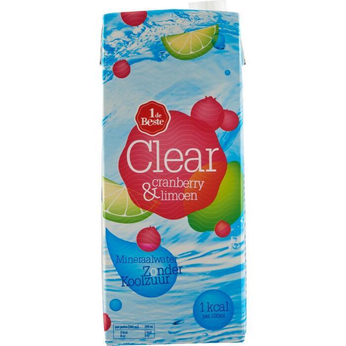 Clear cranberry-limoen (1.5L)