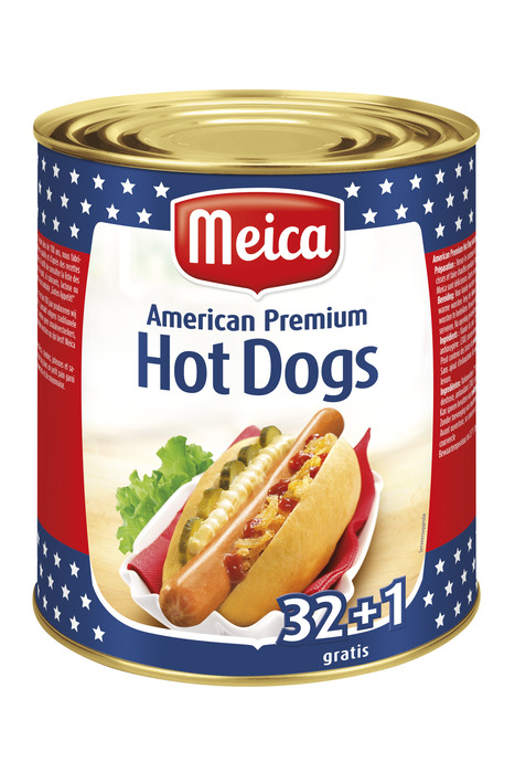 MEICA AMERICAN HOT DOGS -33X50G- (33 × 87.9g)