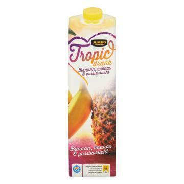 Tropicdrank Banaan, Ananas & passievrucht (pak, 1L)