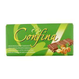Milk chocolate with hazelnuts (tablt, 100g)