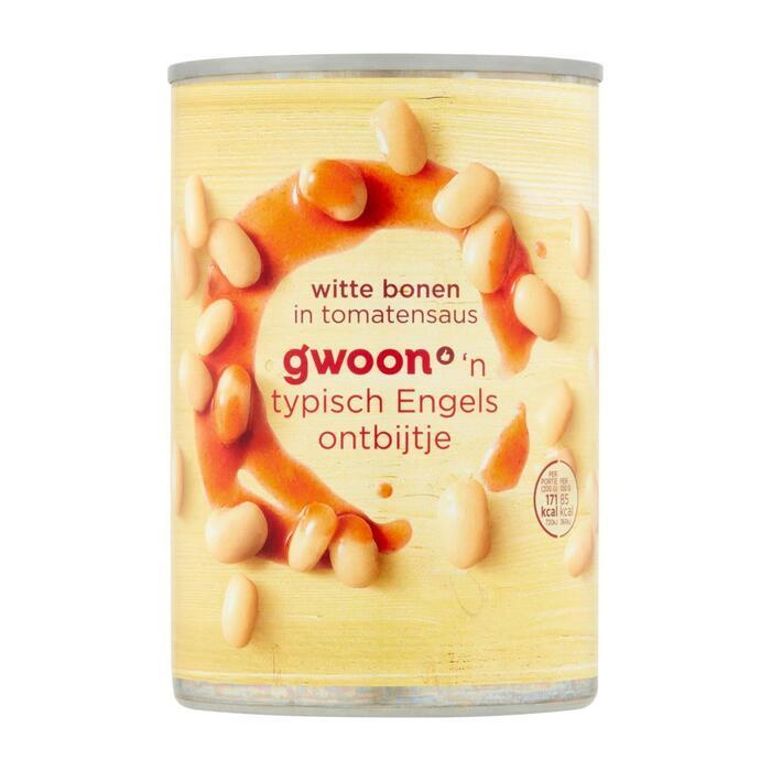 g'woon Witte bonen in tomatensaus (42.5cl)
