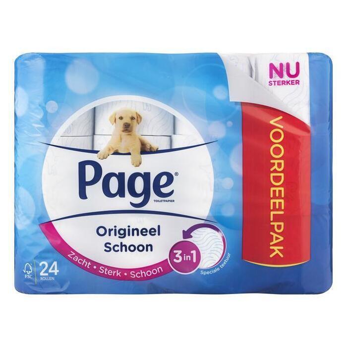 Page Origineel schoon toiletpapier (rollen)