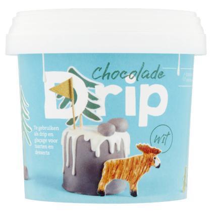 Chocolade Drip Wit 375 g (emmer, 375g)