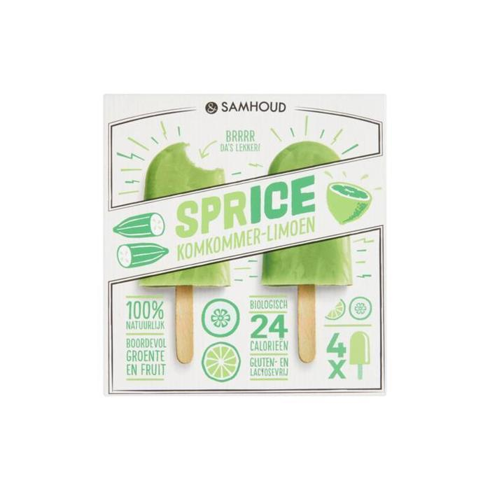 Sprice komkommer limoen (doos, 4 × 50ml)