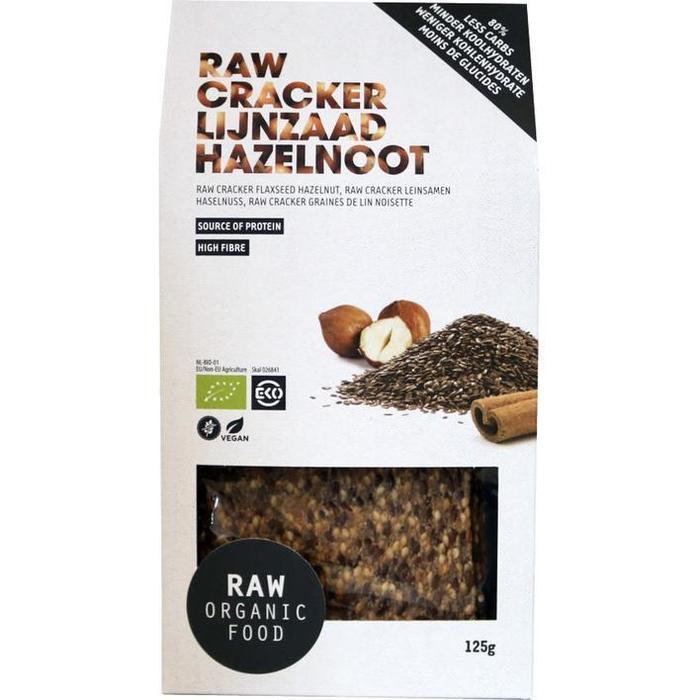 Raw crackers lijnzaad hazelnoot (125g)