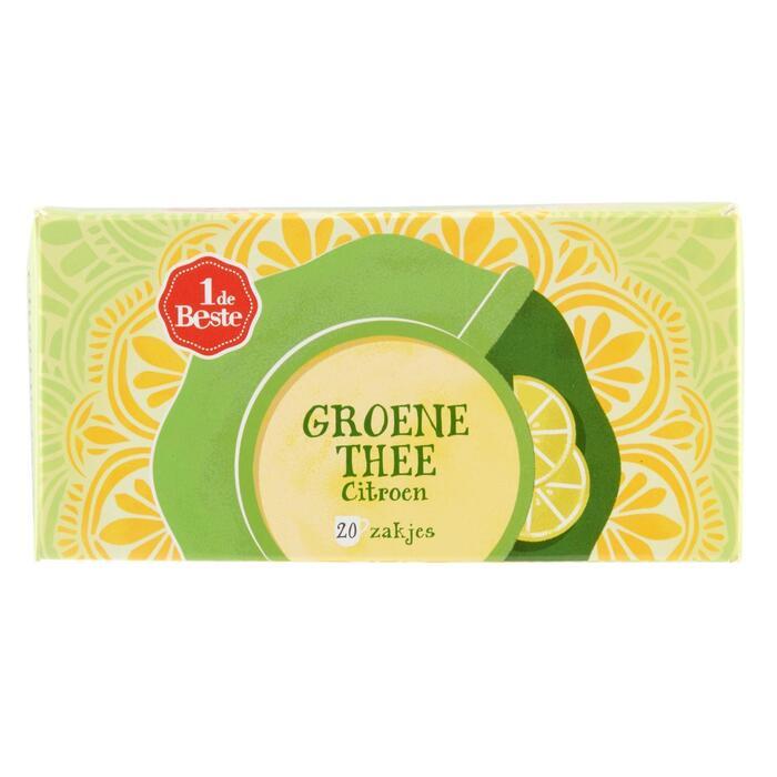 Groene thee citroen kop 20 zk. (30g)