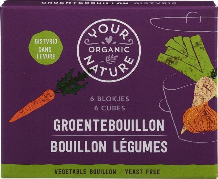 Heldere groentebouillonblokjes zonder gist (66g)