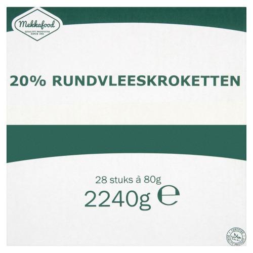 Rundvleeskroketten (doos, 80 × 80g)