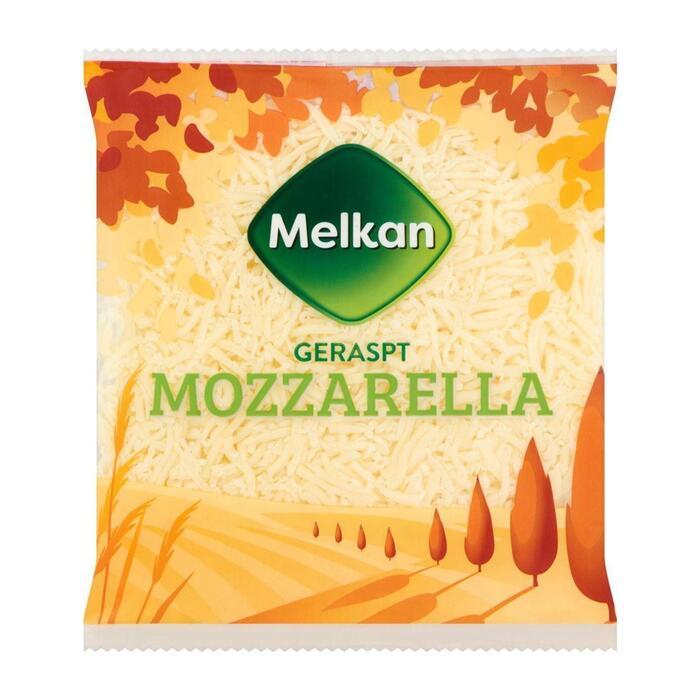 Melkan rasp mozzarella 50+ (plastic zak, 150g)