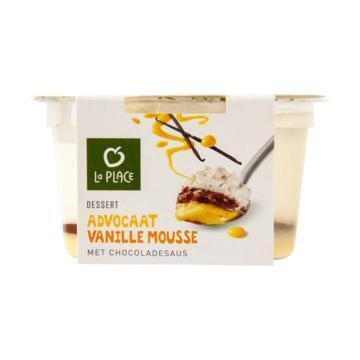 La Place Dessert Advocaat Vanille Mousse met Chocoladesaus 100 g (100g)