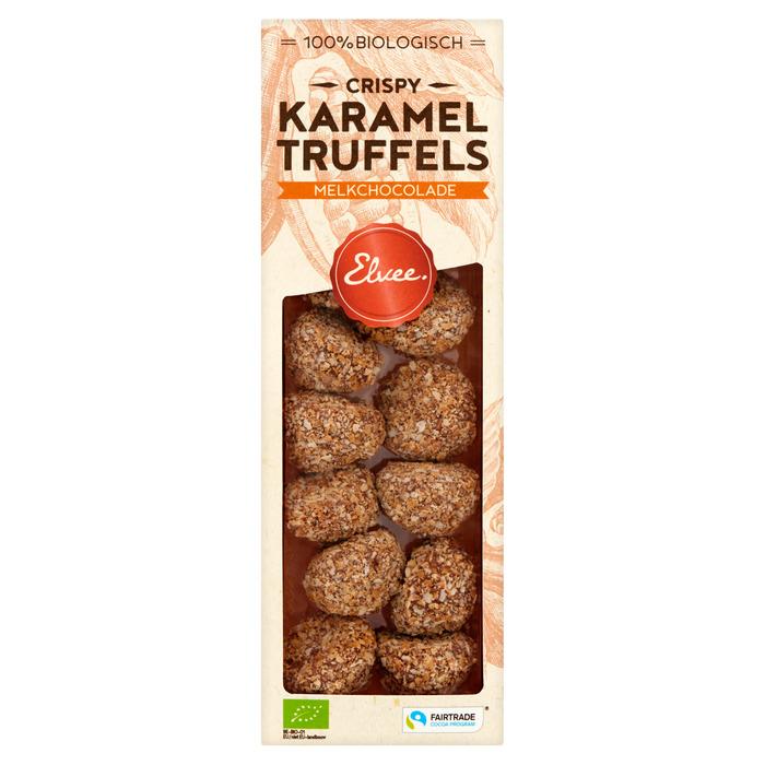 Elvee Karamel Truffels Biologisch 140 g (Stuk, 140g)