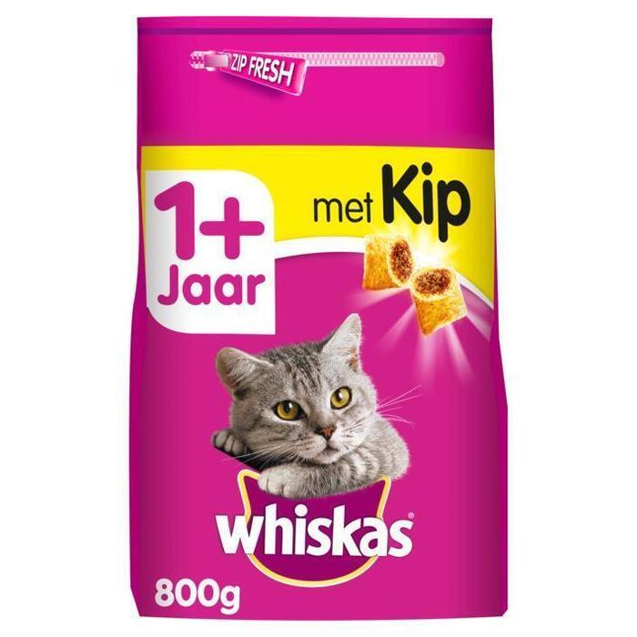Whiskas Adult 1+ - droge kattenbrokken - kip (950g)