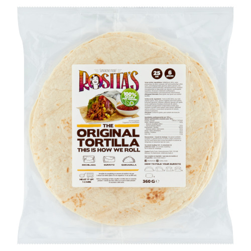 Rosita's Tortilla's Naturel 6 Stuks (360g)