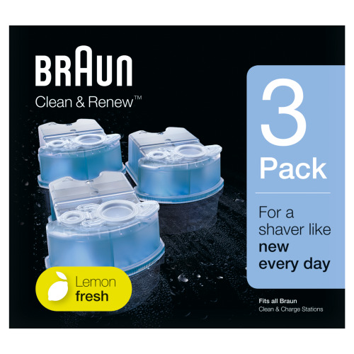 Braun Clean & Renew Reinigingsvloeistof Scheerapparaat 3-pack