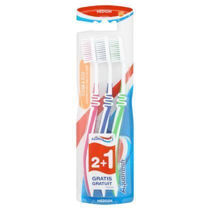 Aquafresh Clean&flex medium tandenborstel (blister)