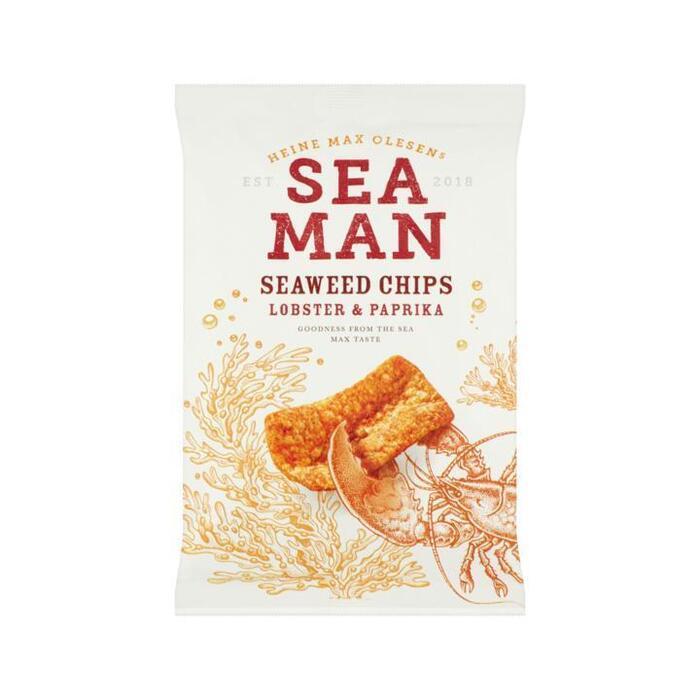 Sea Man Seaweed Chips Lobster & Paprika 75 g (75g)