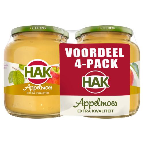 HAK Appelmoes Voordeel Pack 4 x 710 g (710g)