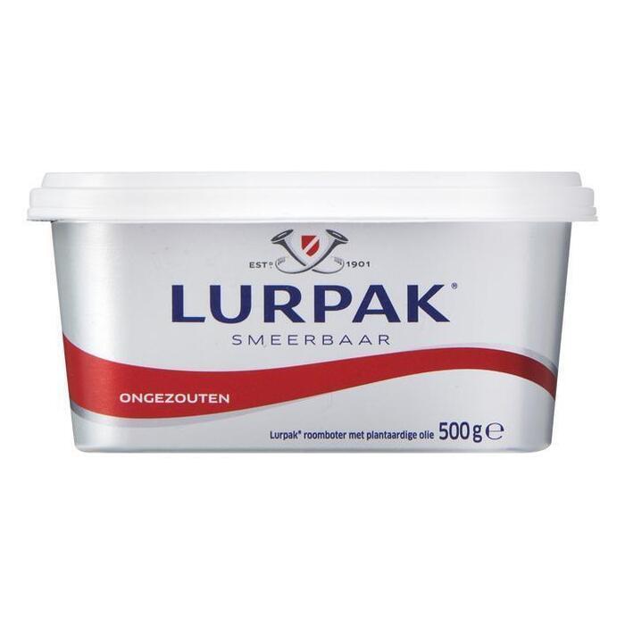 Lurpak Smeerbaar Ongezouten 500 g (500g)