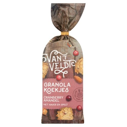 Van't Veldt Granola Koekjes Cranberry Amandel 180g (180g)