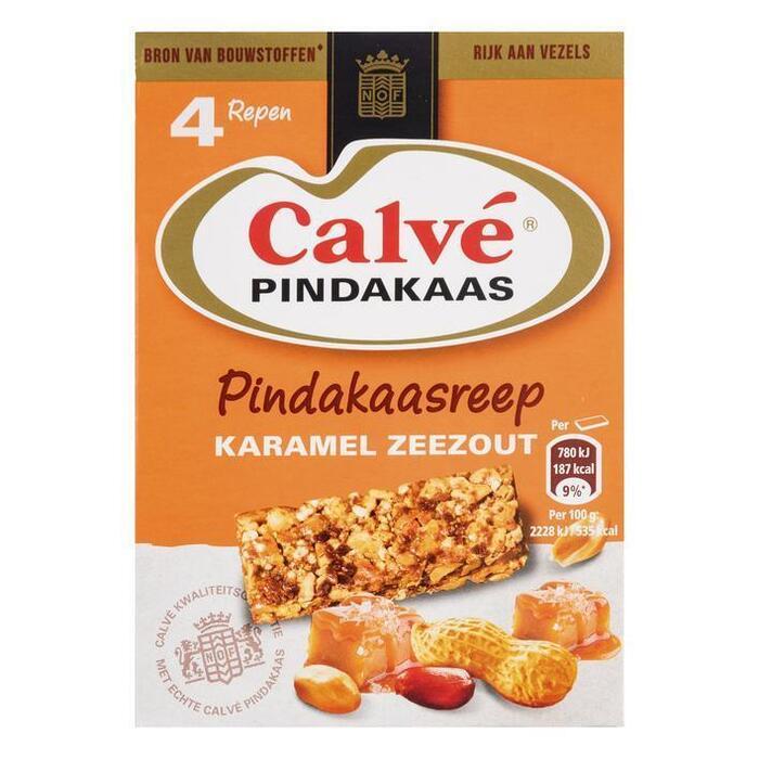 Calvé Pindakaasreep karamel (4 × 35g)