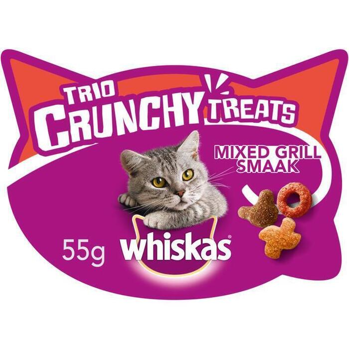 Whiskas Trio crunchy mixed grill (kuipje, 55g)
