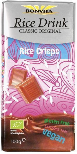 Rice Milk Chocolae Couverture met rijstcrips (wikkel, 100g)