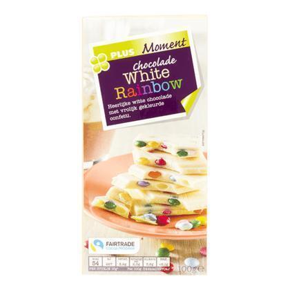 Tablet rainbow choc white fairtrade (100g)