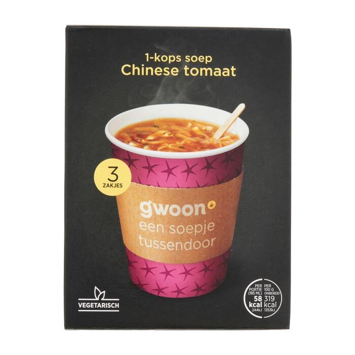 g'woon Chinese tomatensoep (54g)
